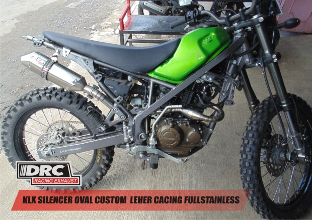 KLX OVAL CUSTOM LEHER CACING MEGABOOM STAINLESS