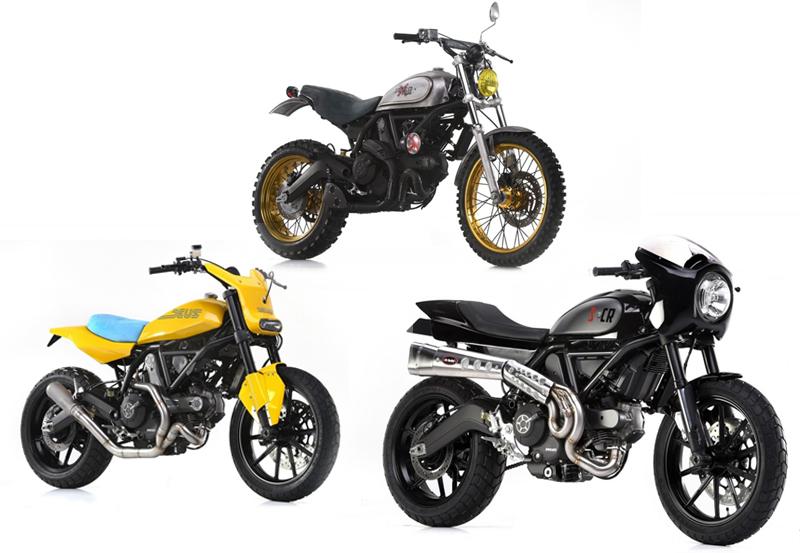Tiga Custom Builder Bangkitkan Sisi Lain Ducati Scrambler