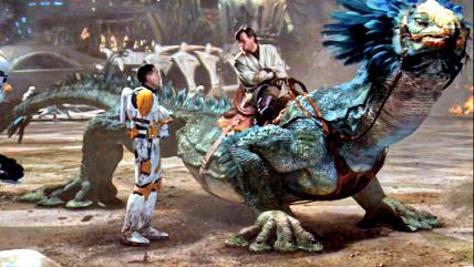 obi wan kenobi riding reptile