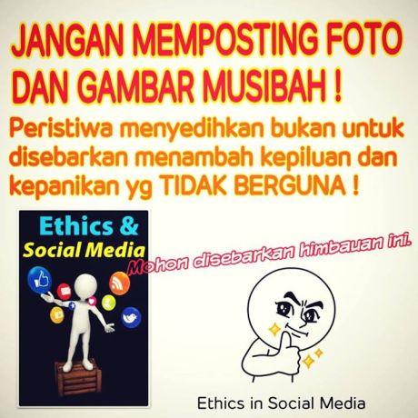 Jangan memposting foto musibah
