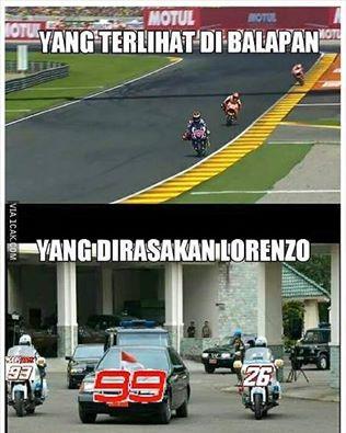 Meme MotoGP Valencia - Lorenzo Dikawal