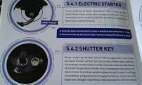 Booklet Satria FU Injeksi 14 starter dan kunci