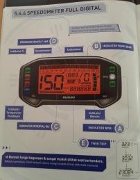 Booklet Satria FU Injeksi 17 - speedometer