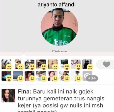 Driver Gojek Ariyanto Affandi ngawur