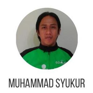 Driver gojek Muhammad Syukur